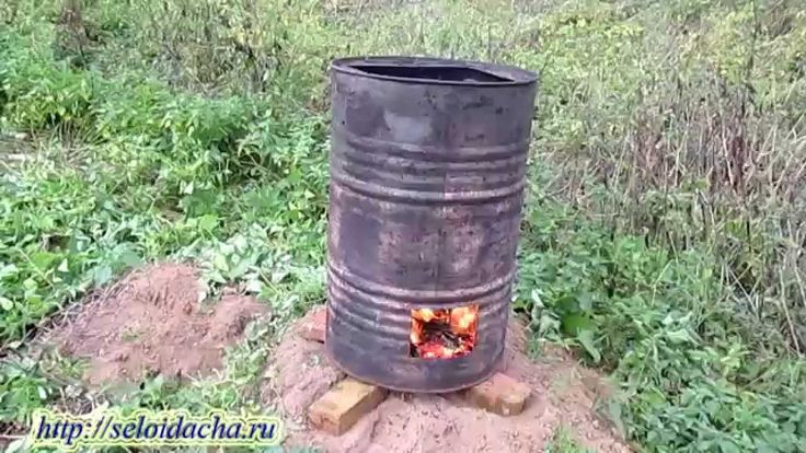 Печь для сжигания мусора из бочки