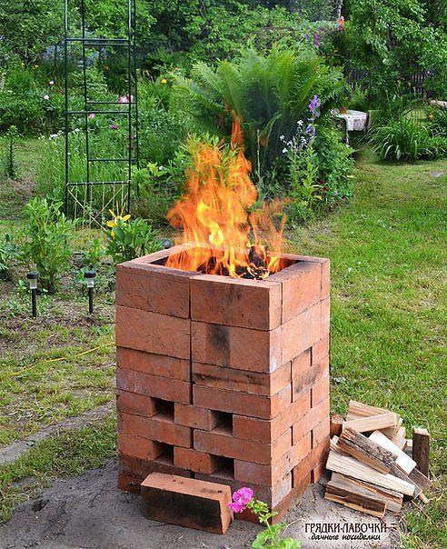Печь для сжигания мусора из кирпича