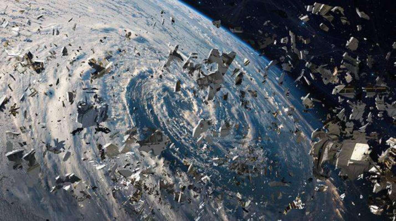 Снимки из космоса мусора