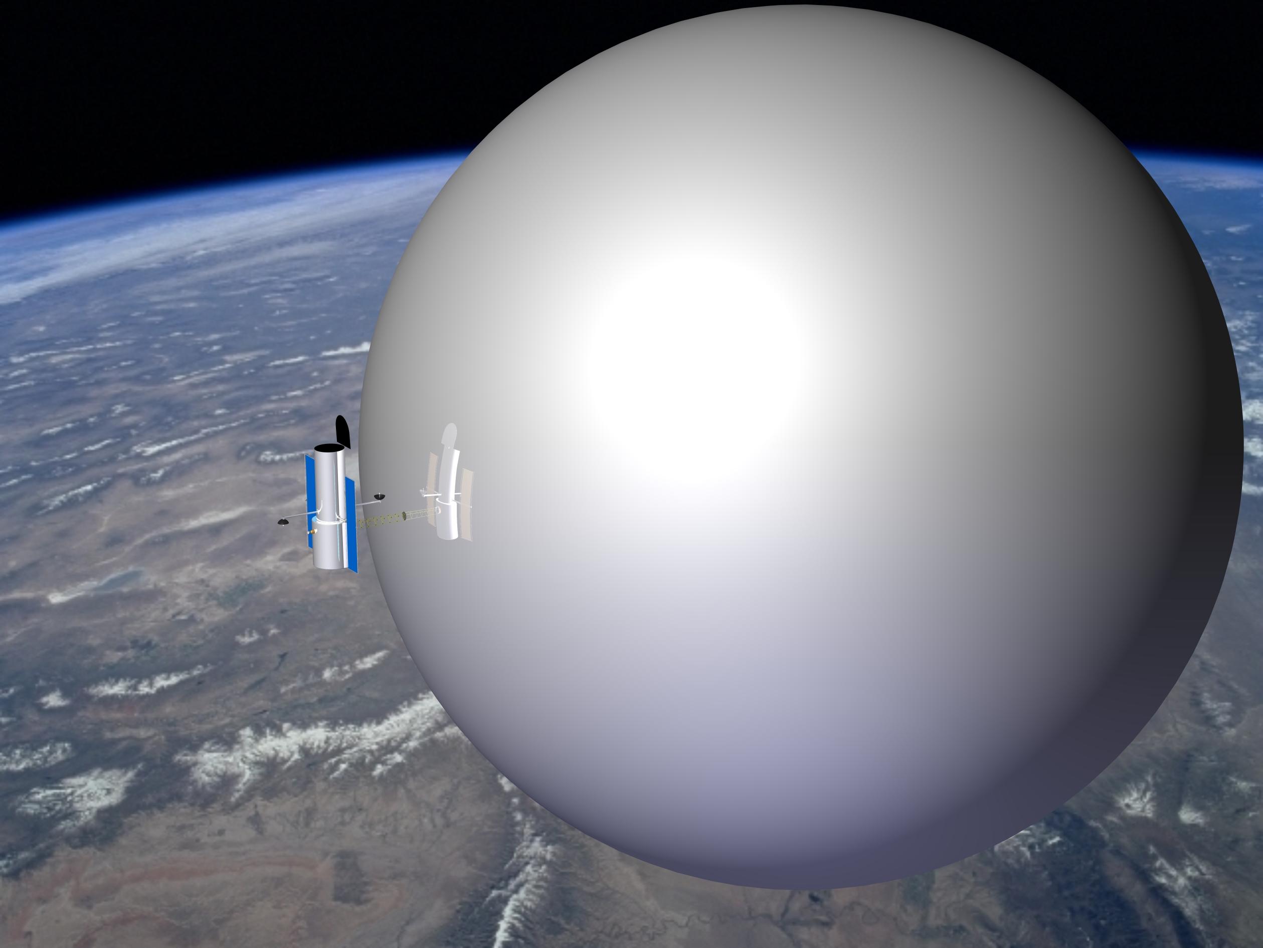 Воздушные шары для космического мусора