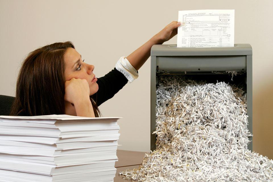 Уничтожение бумаги