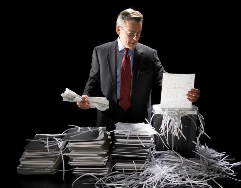 Уничтожение документации