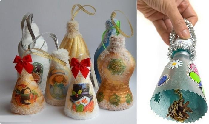 новогодние украшения из пластика